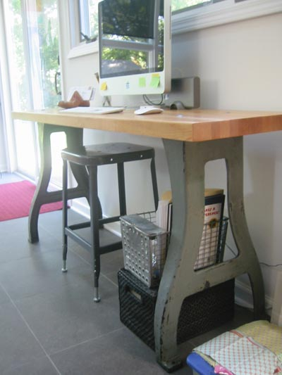 Industrial Kitchen Desk